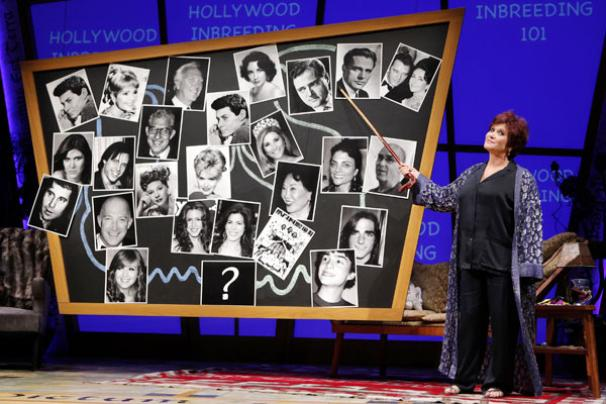 Wishful Drinking - Show Photos - Carrie Fisher (chalk board)