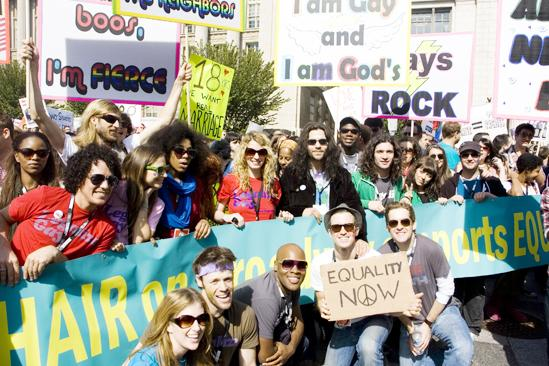 Hair at the National Equality March - Hair Tribe at March