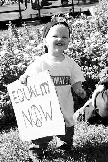 Hair at the National Equality March - Baby