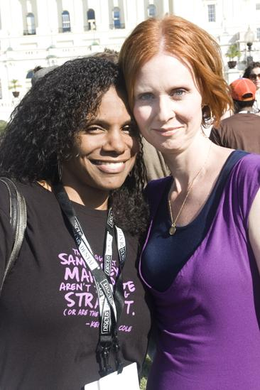 Hair at the National Equality March - Audra McDonald - Cynthia Nixon