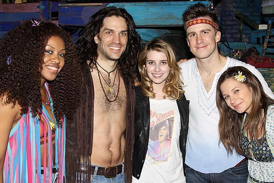 Emma Roberts at Hair – Sasha Allen – Will Swenson – Emma Roberts – Gavin Creel – Vanessa Ray