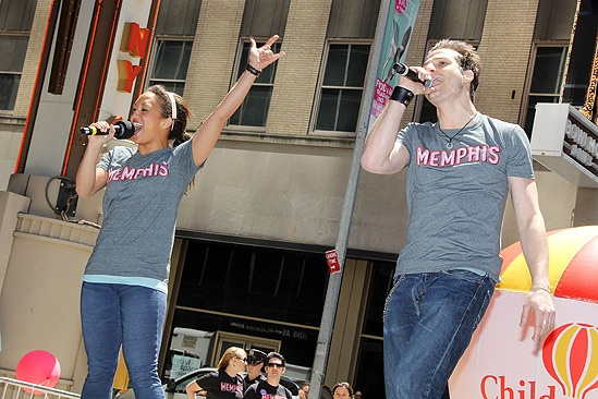 Memphis 2011 Barbecue – Ashley Blanchet – Bryan Fenkart (hands up)
