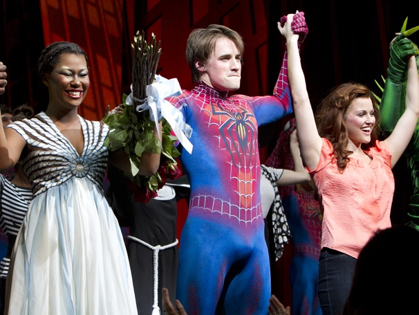 Show Photos - Spider-Man: Turn Off the Dark - Christina Sajous - Reeve Carney - Rebecca Faulkenberry
