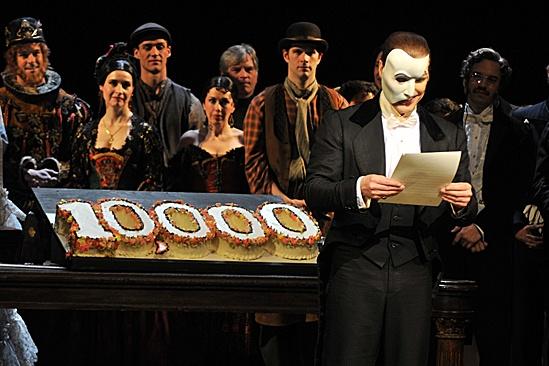 Phantom of the Opera – 10,000 Performance – cast - Hugh Panaro
