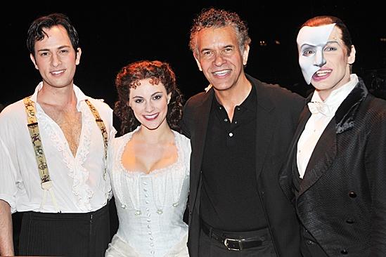 Phantom of the Opera – 10,000 Performance – Kyle Barisich – Trista Moldovan – Brian Stokes Mitchell – Hugh Panaro