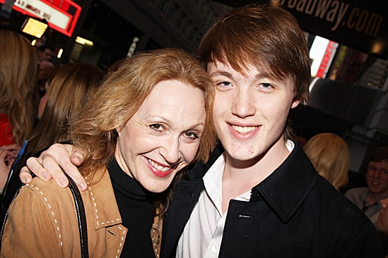 Jesus Christ Superstar opening night – Jan Maxwell and son