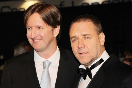 Les Miserables London premiere – Tom Hooper – Russell Crowe