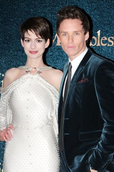 Les Miserables London premiere – Anne Hathaway – Eddie Redmayne