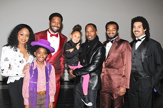 Jamie Foxx at Motown – Felicia Boswell -Raymond Luke Jr. – Anelise Foxx – Brandon Victor Dixon – Nicholas Christopher