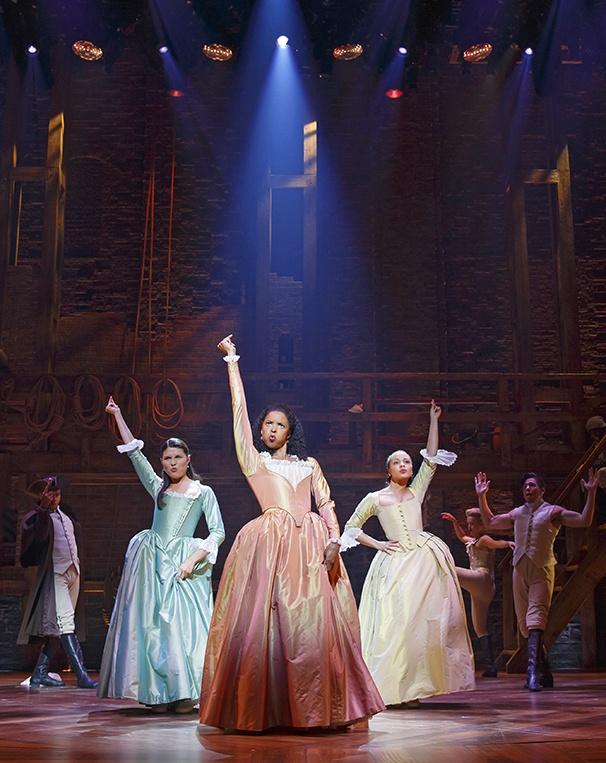 Hamilton - Show Photos - 8/15 - Phillipa Soo - Renee Elise Goldsberry - Jasmine Cephas Jones