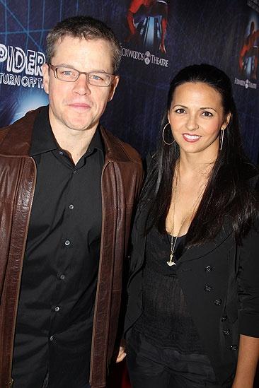 Spider-Man opening – Matt Damon – Luciana wife