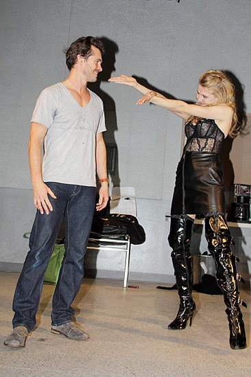 Venus in Fur Broadway Opening Night – Hugh Dancy – Nina Arianda (curtain call 3)