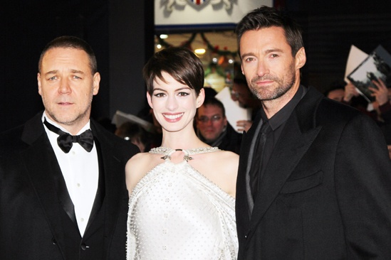 Les Miserables London premiere – Russell Crowe – Anne Hathaway – Hugh Jackman