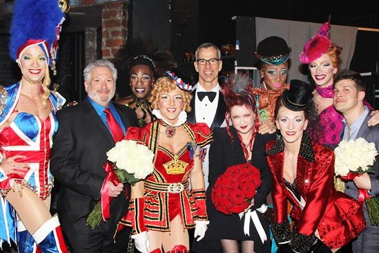 Kinky Boots Opening-  Harvey Fierstein- Jerry Mitchell- Cyndi Lauper- Stephen Oremus- The Angels