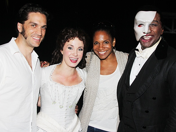 Phantom of the Opera - Backstage - OP - 6/14 - Will Swenson - Sierra Boggess - Audra McDonald - Norm Lewis