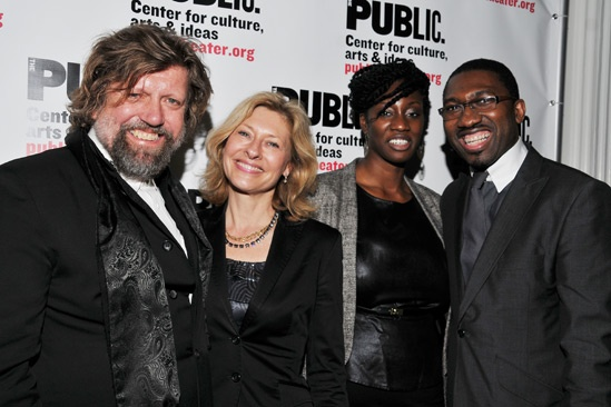Public Theater Openings — Oskar Eustis — Laurie Eustis — Kwame Kwei-Armah