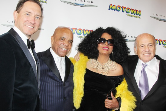 'Motown' Opening Night — Kevin McCollum — Berry Gordy — Diana Ross — Doug Morris