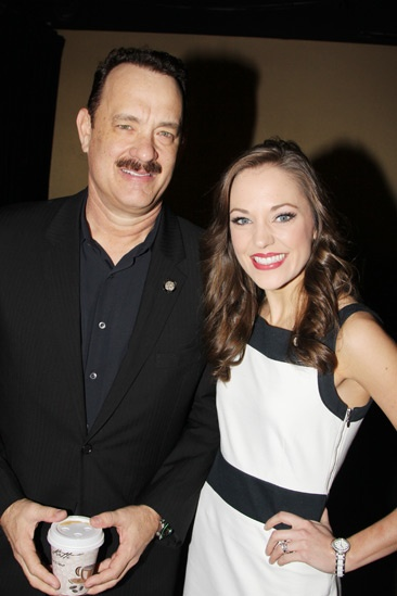 2013 Tony Nominee Brunch — Tom Hanks — Laura Osnes