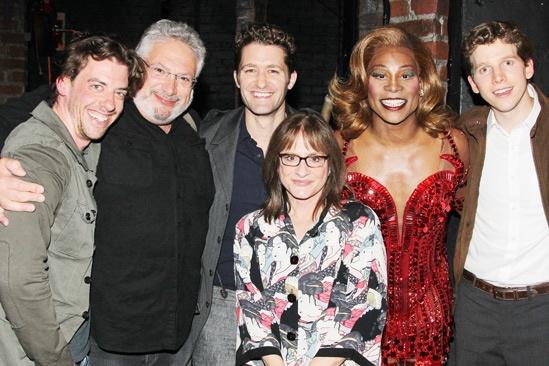 Celebs at Kinky Boots — Christian Borle — Harvey Fierstein — Matt Morrison — Patti LuPone — Billy Porter — Stark Sands