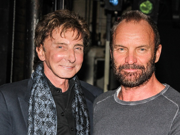 The Last Ship - Backstage - 12/14 - Barry Manilow - Sting