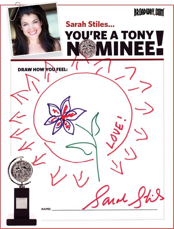 Tony Nominee Drawings – 2015 – Sarah Stiles