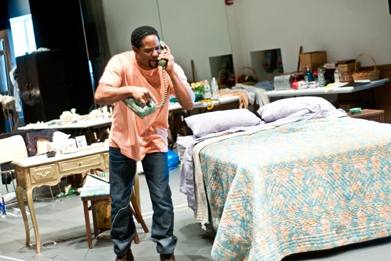 Streetcar Named Desire rehearsal – Blair Underwood