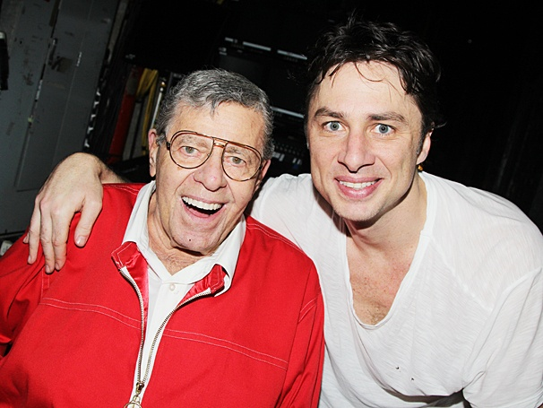 Bullets Over Broadway - Backstage - OP - 6/14 - Jerry Lewis - Zach Braff