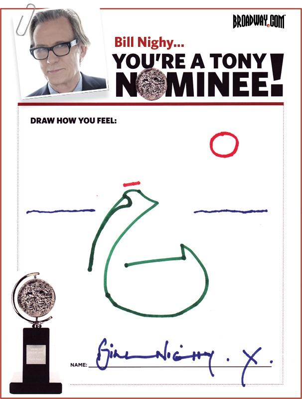 Tony Nominee Drawings – 2015 – Bill Nighy