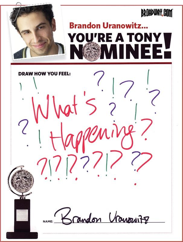 Tony Nominee Drawings – 2015 – Brandon Uranowitz
