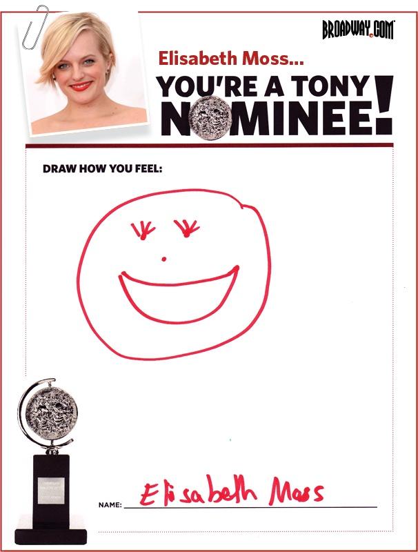 Tony Nominee Drawings – 2015 – Elisabeth Moss