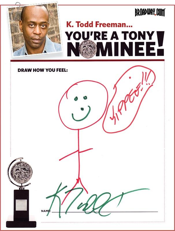 Tony Nominee Drawings – 2015 – K. Todd Freeman