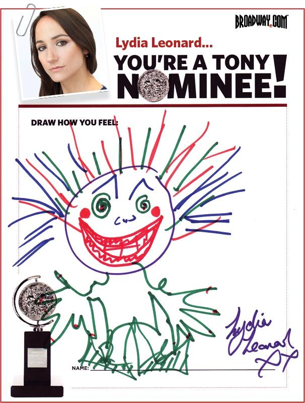 Tony Nominee Drawings – 2015 – Lydia Leonard