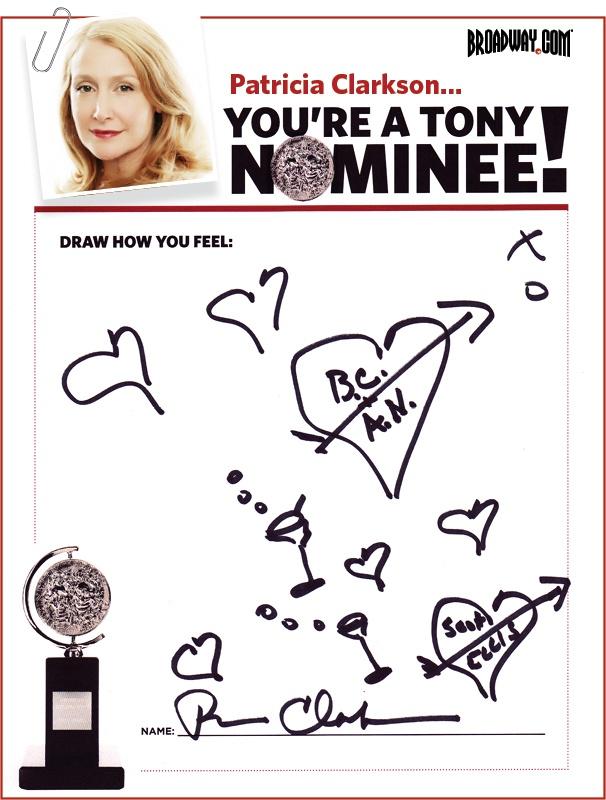Tony Nominee Drawings – 2015 – Patricia Clarkson