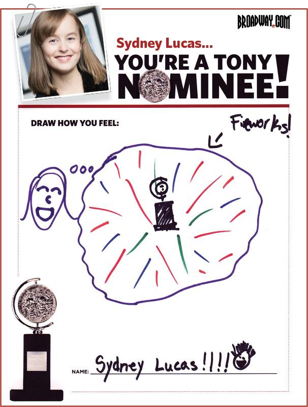 Tony Nominee Drawings – 2015 – Sydney Lucas