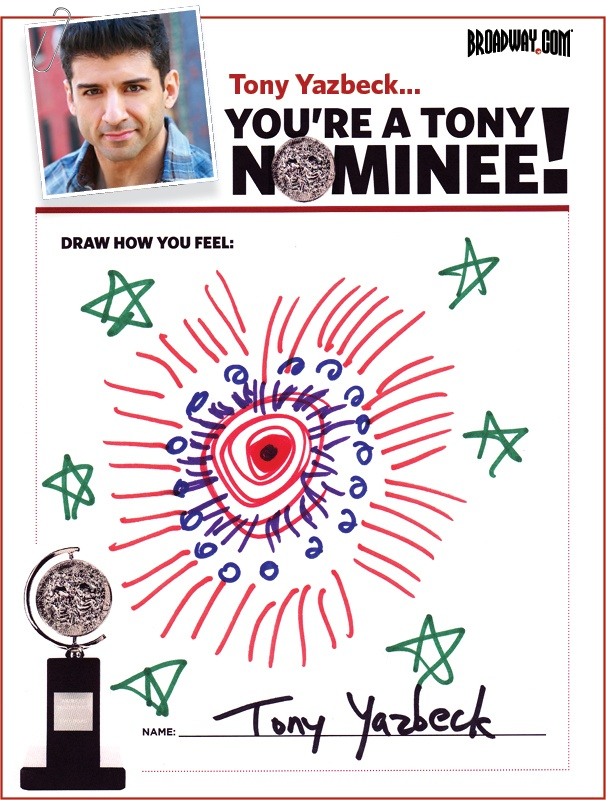 Tony Nominee Drawings – 2015 – Tony Yazbeck