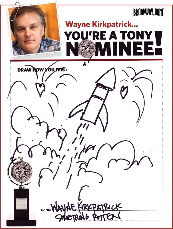 Tony Nominee Drawings – 2015 – Wayne Kirkpatrick