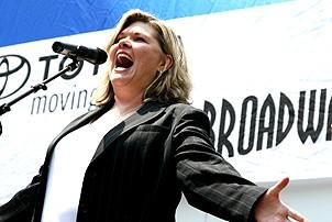 Photo Op - Broadway in Bryant Park 07-26-07 - Debra Monk