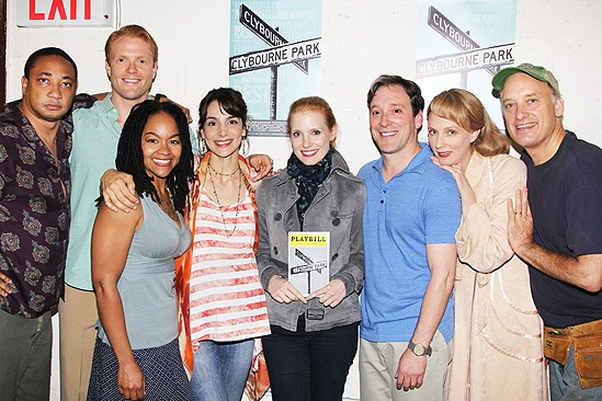Jessica Chastain and Katie Finneran at Clybourne Park – Damon Gupton – Brendan Griffin – Crystal A. Dickinson – Annie Parisse – Jessica Chastain – Jeremy Shamos – Christina Kirk – Frank Wood