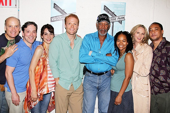 Morgan Freeman at Clybourne Park – Frank Wood – Brendan Griffin – Jeremy Shamos – Annie Parisse – Bruce Norris – Morgan Freeman – Crystal A. Dickinson – Christina Kirk – Damon Gupton – Pam MacKinnon