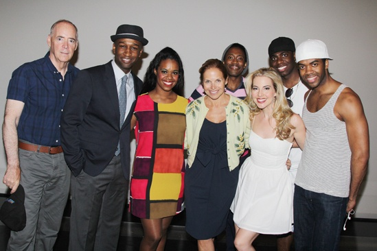 Katie Couric at 'Motown' — John Jellison — Donald Webber Jr — Rebecca E. Covington — Katie Couric — Eric LaJuan Summers — Morgan James — Jawan M. Jackson — Julius Thomas III