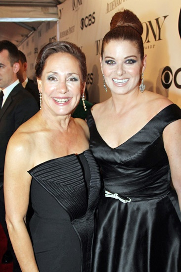 Tony Red Carpet- Laurie Metcalf- Debra Messing