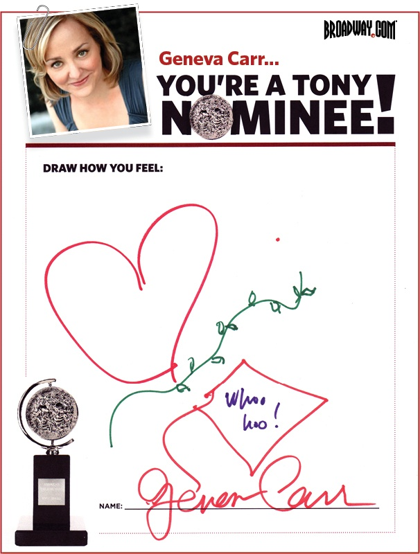 Tony Nominee Drawings – 2015 – Geneva Carr