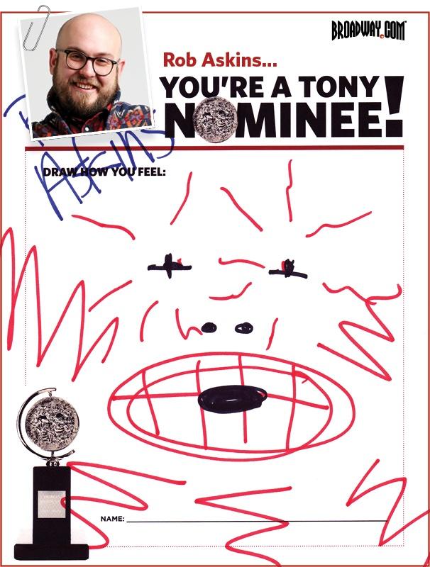 Tony Nominee Drawings – 2015 – Robert Askins