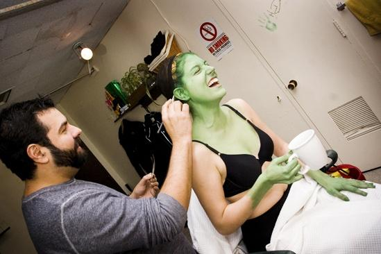 Nicole Parker Backstage at Wicked – ears