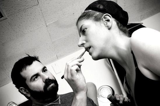 Nicole Parker Backstage at Wicked – lips