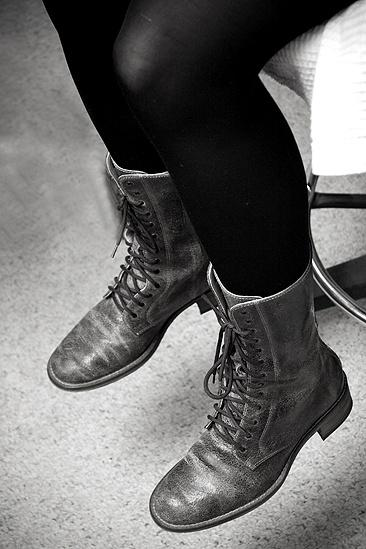 Nicole Parker Backstage at Wicked – boots