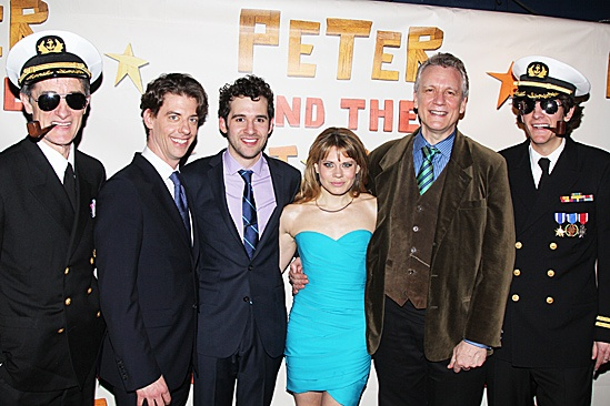 Peter and the Starcatcher Opening Night – Roger Rees – Christian Borle - Adam Chanler-Berat – Celia Keenan Bolger – Rick Elice – Alex Timbers