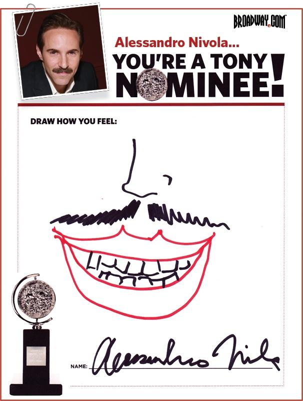 Tony Nominee Drawings – 2015 – Alessandro Nivola