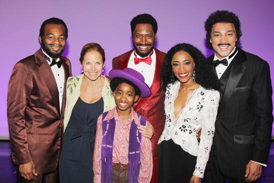 Katie Couric at 'Motown' — Brandon Victor Dixon — Katie Couric — Raymond Luke Jr — Bryan Terrell Clark — Valisia LeKae — Charl Brown