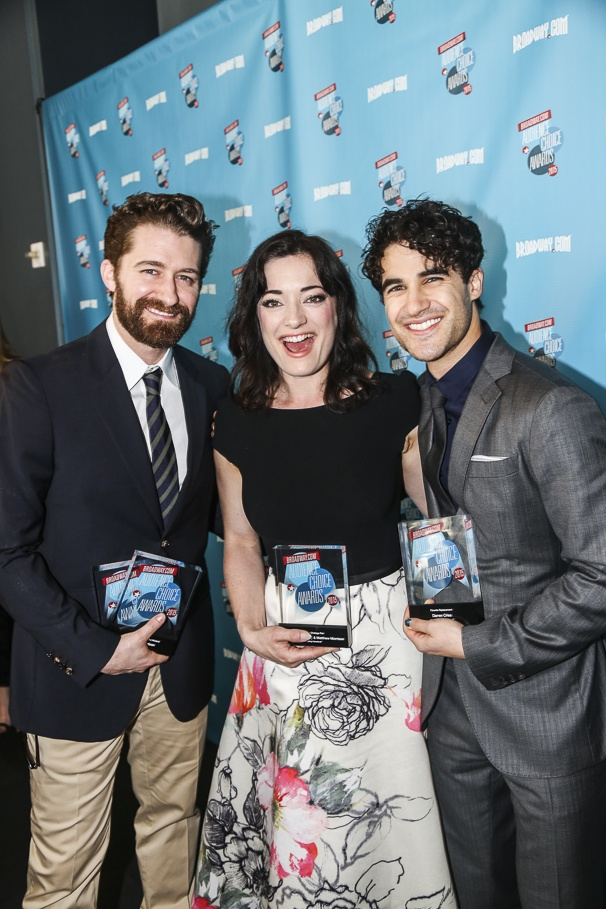 Broadway.com - Audience Choice Awards - 5/15 - Matthew Morrison - Laura Michelle Kelly - Darren Criss